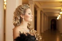 Beautiful woman in theater Royalty Free Stock Photo