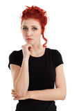 Beautiful woman thinking Stock Image