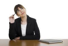 Beautiful woman thinking Stock Photo