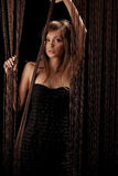 Beautiful woman with threads Royalty Free Stock Photo