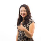 Beautiful woman with thumb up Royalty Free Stock Image