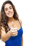 Beautiful  Woman  With The Thumb Upwards Royalty Free Stock Photo