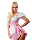 Beautiful woman in tiroler or oktoberfest style Royalty Free Stock Images