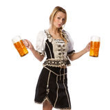 Beautiful woman in tiroler outfit Stock Photography
