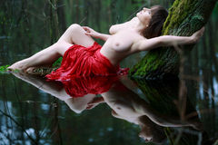 Beautiful woman topless Royalty Free Stock Images