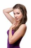Beautiful woman touching her hair Royalty Free Stock Photo