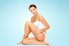 Beautiful woman touching her hips Royalty Free Stock Photo
