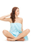 Beautiful woman in towel Stock Image