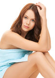 Beautiful woman in towel Stock Photos