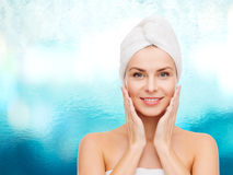 Beautiful woman in towel Royalty Free Stock Photo