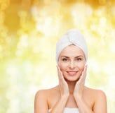 Beautiful woman in towel Royalty Free Stock Photo