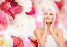 Beautiful woman in towel Royalty Free Stock Photos