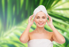 Beautiful woman in towel Royalty Free Stock Images