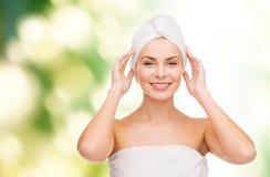 Beautiful woman in towel Stock Photo
