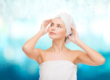 Beautiful woman in towel Royalty Free Stock Photography