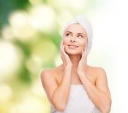 Beautiful woman in towel Stock Image