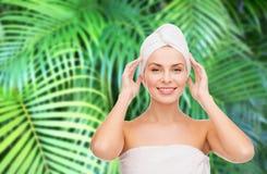 Beautiful woman in towel Stock Photography