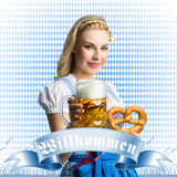 Beautiful woman in a traditional bavarian dirndl Stock Photo