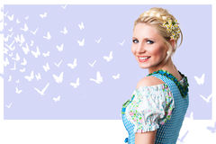 Beautiful woman in a traditional bavarian dirndl Royalty Free Stock Image