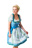 Beautiful woman in a traditional bavarian dirndl royalty free stock photo