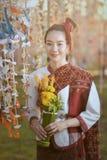 Thai dress identity culture of Thailand vector illustration