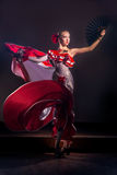 Beautiful Woman traditional Spanish Flamenco dancer Stock Photography