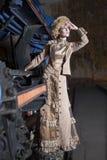 Beautiful woman on the train Royalty Free Stock Photo