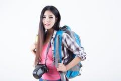 Beautiful woman traveler Royalty Free Stock Images