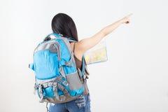 Beautiful woman traveler Stock Photos