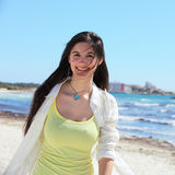Beautiful woman on a tropical beach Royalty Free Stock Photography