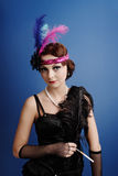 Beautiful woman in twenties style Stock Photography