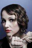Beautiful woman in twenties style Royalty Free Stock Image