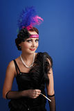 Beautiful woman in twenties style Royalty Free Stock Images