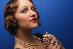 Beautiful woman in twenties style Stock Photo