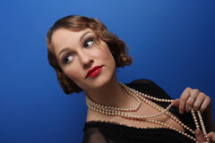 Beautiful woman in twenties style Royalty Free Stock Photos