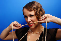 Beautiful woman in twenties style Stock Image