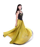 Beautiful Woman Twirling In Her Dress Stock Image