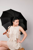 Beautiful woman with an umbrella Royalty Free Stock Photography