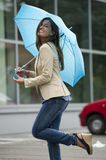 Beautiful woman with umbrella Royalty Free Stock Photos