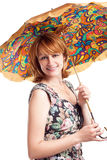 Beautiful Woman with umbrella. Stock Photos
