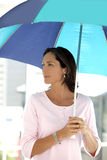 Beautiful woman with umbrella Royalty Free Stock Image