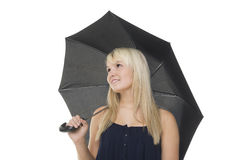 Beautiful woman under umbrella Royalty Free Stock Photography