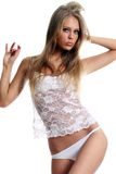 Beautiful woman in underwear Stock Images
