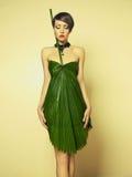 Beautiful woman in unusual dress Stock Photo