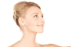 Beautiful woman with updo hair Royalty Free Stock Photos