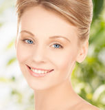 Beautiful woman with updo hair Stock Image