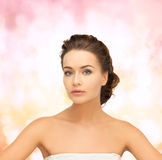 Beautiful woman with updo Royalty Free Stock Images