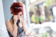 Beautiful woman upset and crying Royalty Free Stock Photography
