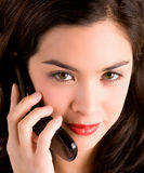 Beautiful Woman Using her Cell Phone Stock Photo