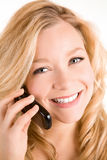 Beautiful Woman Using Her Cell Phone Stock Photos